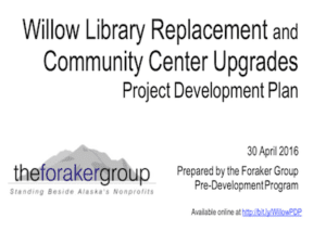 Willow Library Upgrade Plan
